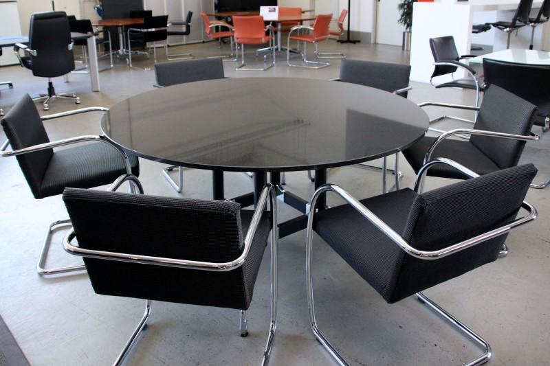 Vitra Konferenztisch Granit / Schwarz Ø 160 cm