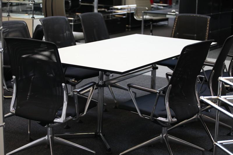 USM-Kitos Konferenztisch Kunstharz / Weiß 200 x 100 cm