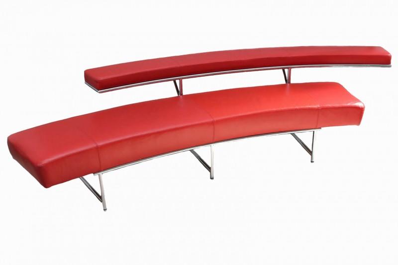 ClassiCon Monte Carlo Sofa von Eileen Gray Leder / Rot