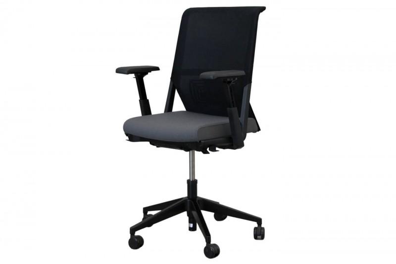 Haworth® Comforto 59 Bürodrehstuhl Stoff / Netz / Grau / Schwarz