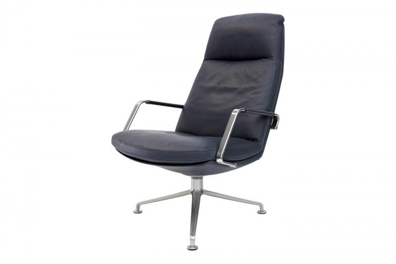 Walter Knoll FK 86 Lounge Sessel Leder / Blau