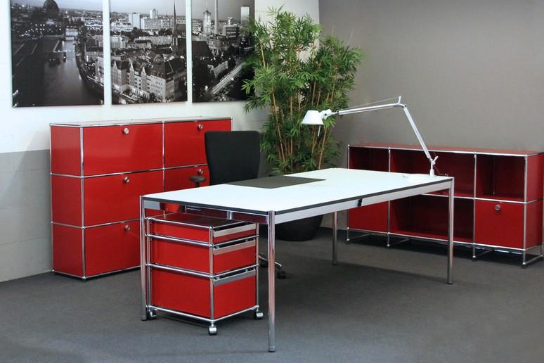Usm Haller Schreibtisch Weiß 200 X 100 Cm Schreibtische Usm