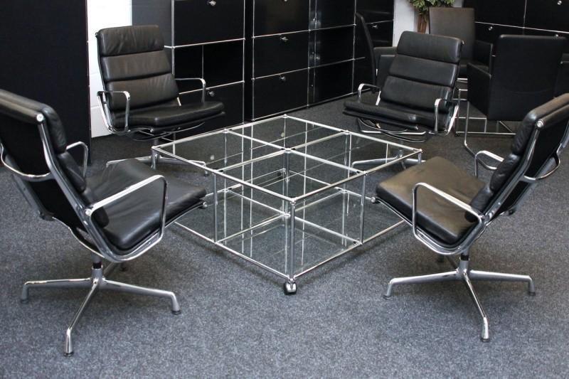 USM Haller Beistelltisch Glas 100 x 100 cm