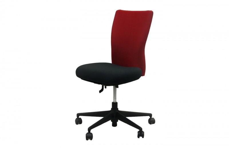 Vitra T-Chair Bürodrehstuhl Stoff / Rot / Schwarz