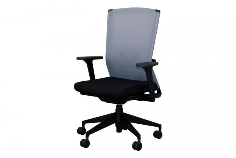 Haworth® Comforto Dynaflex Bürodrehstuhl Stoff / Netz / Schwarz / Grau