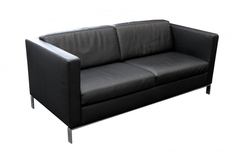 Walter Knoll Foster Sofa 500 Leder / Schwarz
