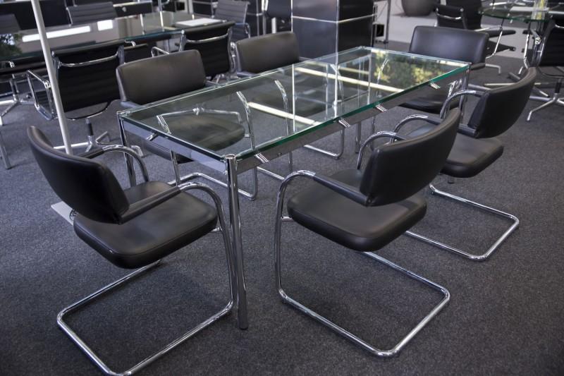 USM Haller Konferenztisch / Schreibtisch Glas 175 x 75 cm