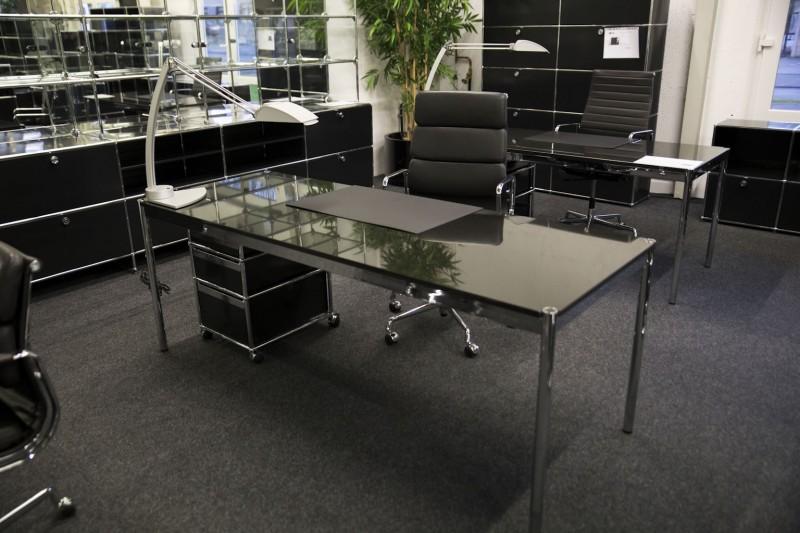 USM Haller Granit Schreibtisch 200 x 75 cm