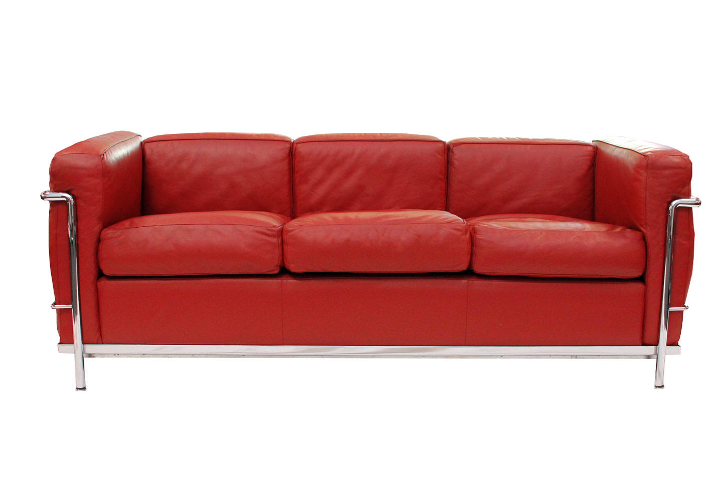Cassina LC21 Le Corbusier Three Seater Sofa Leather / Red   Sofas ...