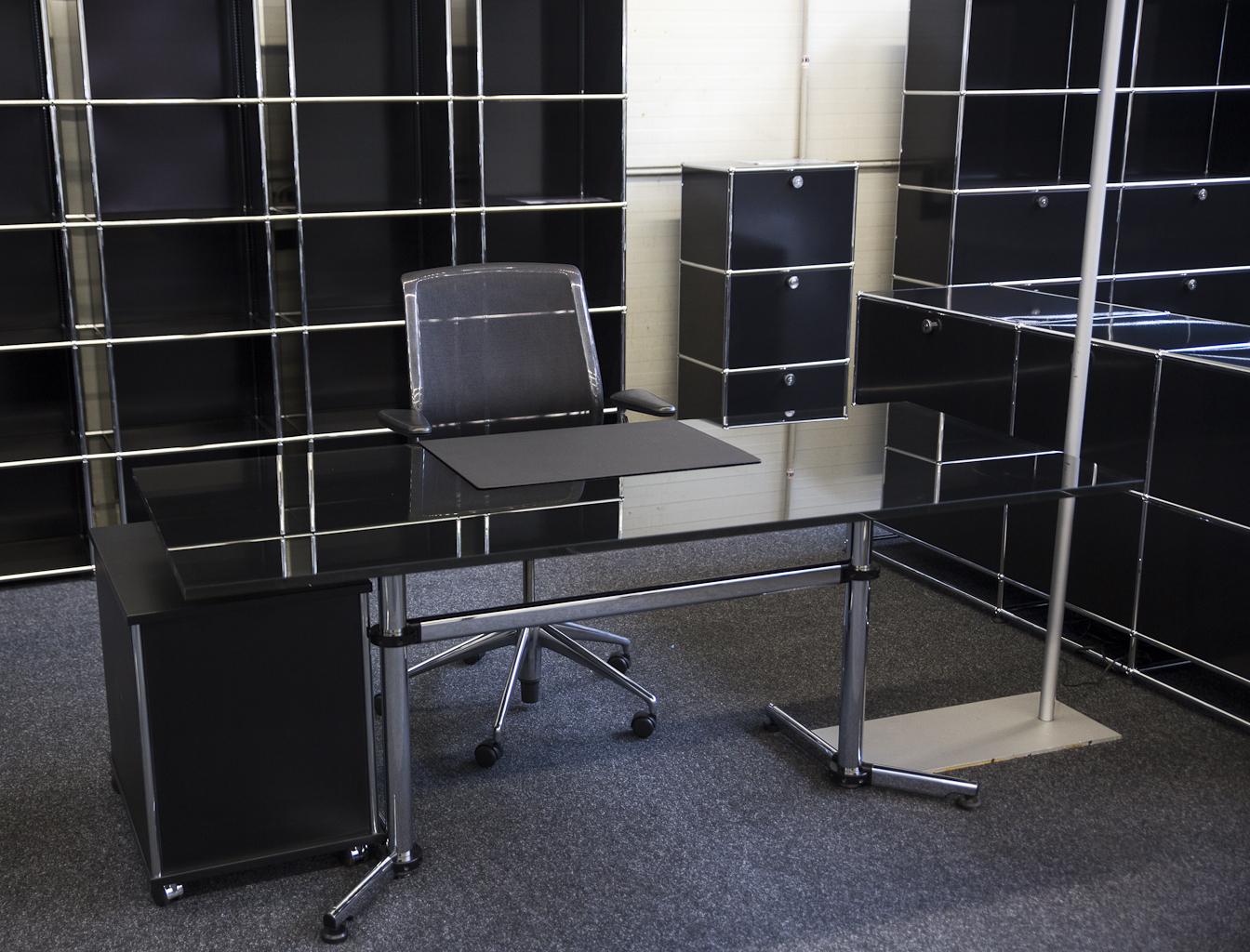 Schreibtisch Glas Schwarz 2021