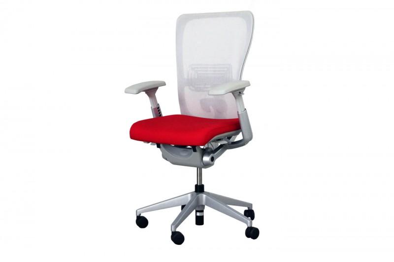 Haworth® Comforto 89 Bürodrehstuhl Stoff / Netz / Rot / Grau