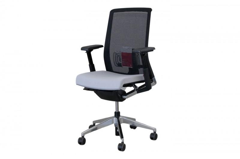 Haworth® Comforto 62 Bürodrehstuhl Stoff / Netz / Grau / Schwarz