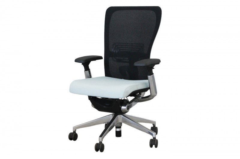 Haworth® Comforto 89 Bürodrehstuhl Stoff / Blau Netz / Schwarz
