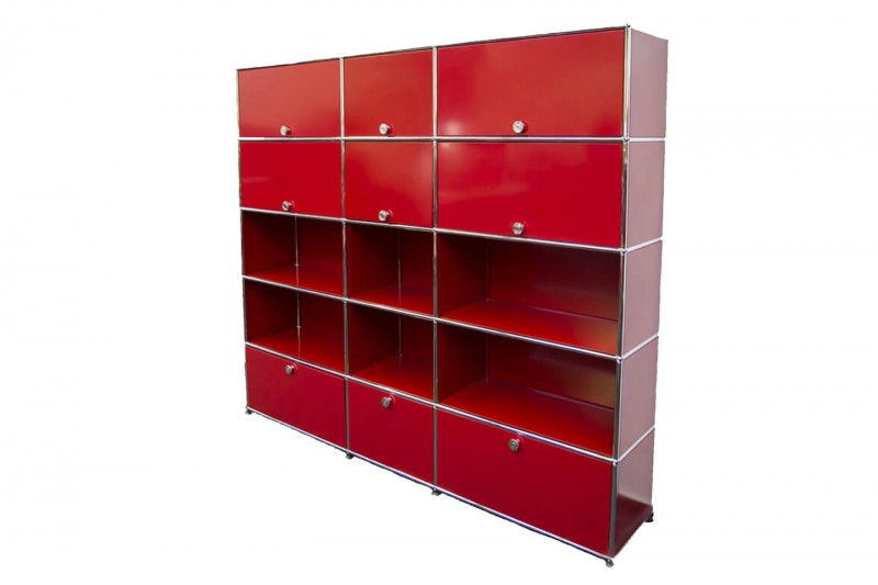 USM Haller Wall Shelf USM Ruby Red