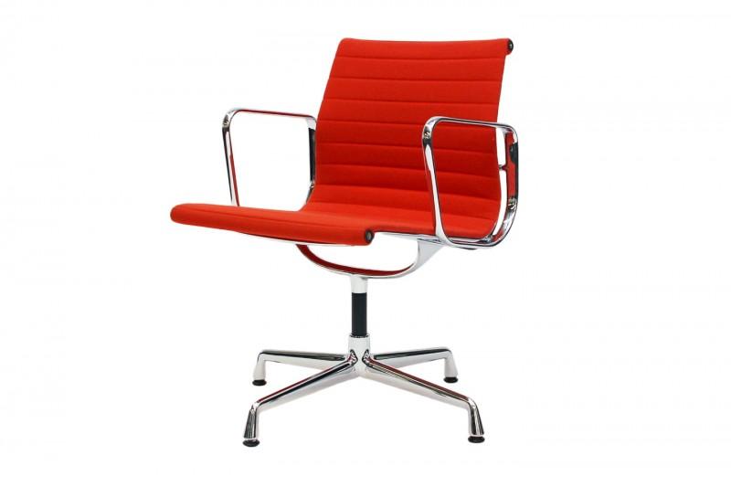 Vitra Aluminium Chair EA 108 Besucherstuhl Hopsak / Rot / Orange