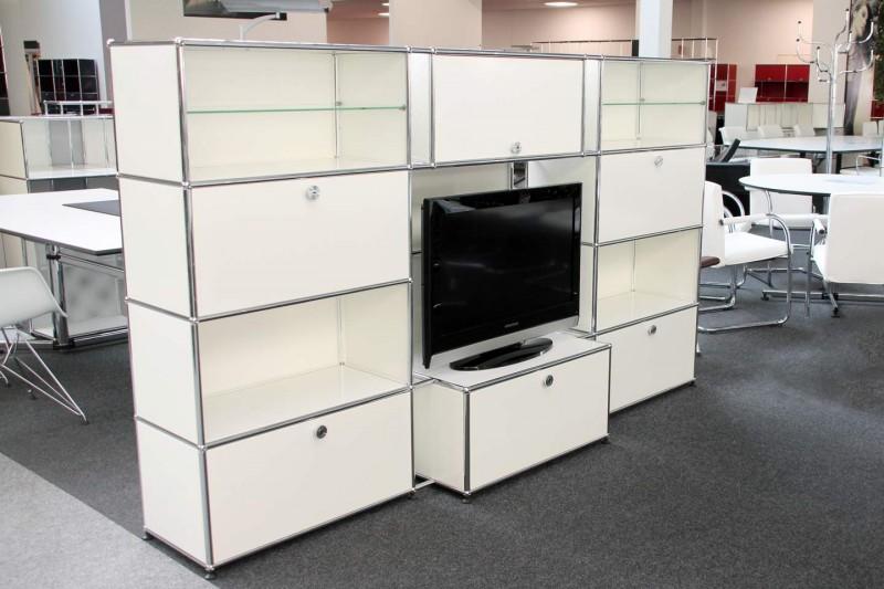 USM Haller Wandregal / TV-Board Reinweiß RAL 9010