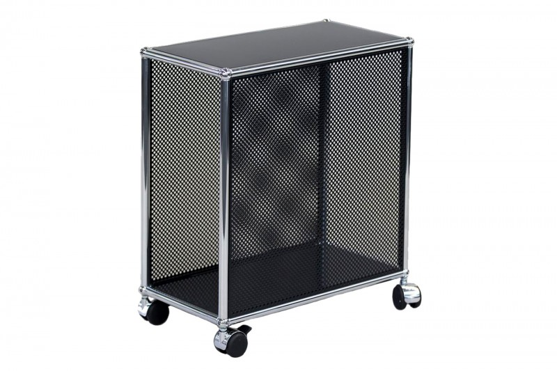 USM Haller Computer Trolley Perforated / Graphit Black RAL 9011