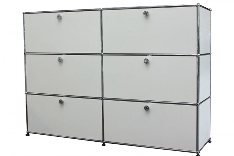 USM Haller Sideboard with Filing Frame Pure White RAL 9010