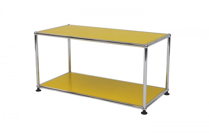 USM Haller side table 75 x 35 cm golden yellow RAL 1004