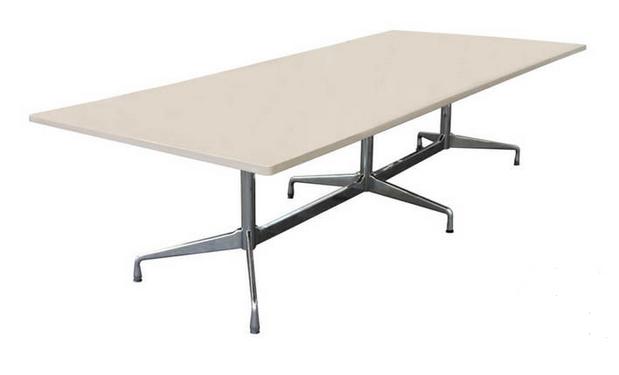 Vitra Konferenztisch Granit / Braun / Beige gemustert 300 x 125 cm