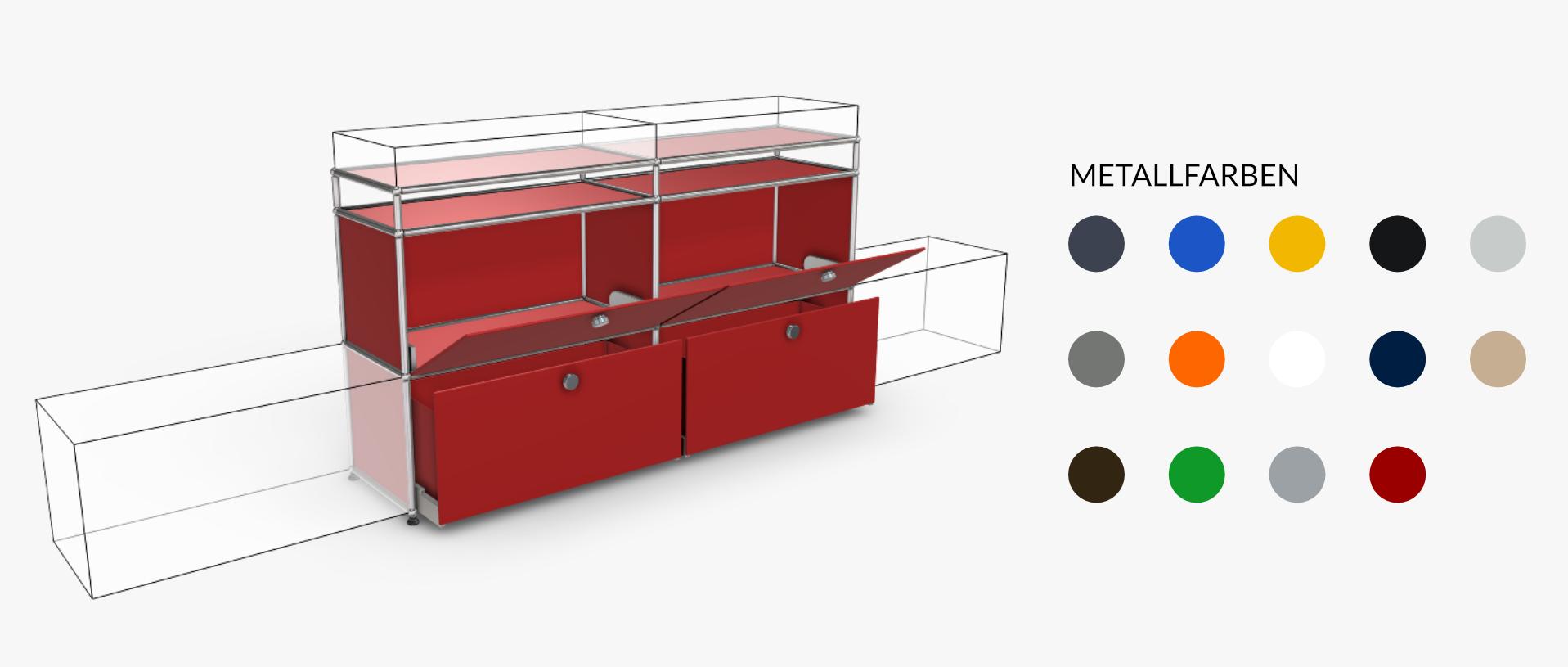 USM-Haller-Konfigurator-Sideboard-Rot
