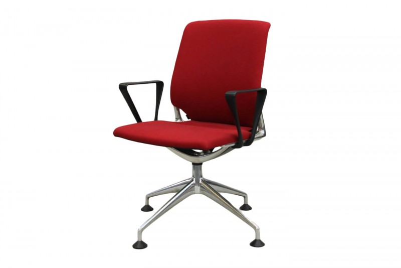 Vitra Meda Chair Conference Fabric / Red
