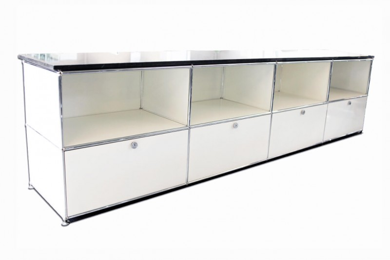 USM Haller Sideboard with Granite Top Pure White RAL 9010