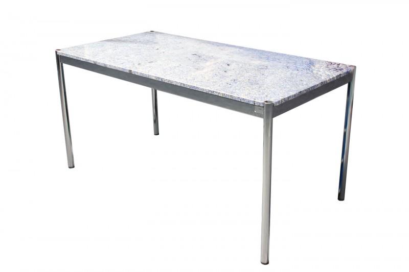 USM Haller Granit Schreibtisch Blau 150 x 75 cm