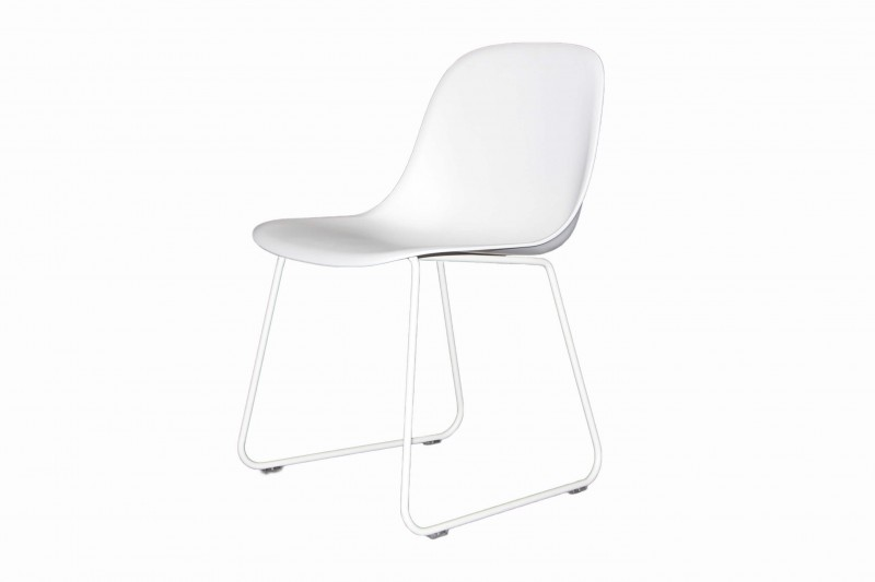 Muuto Fiber Side Chair Kufen / Weiß