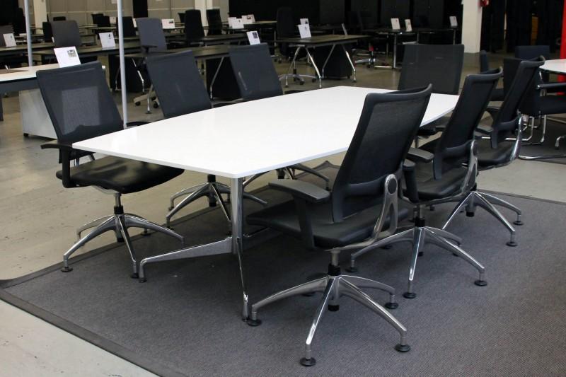 Vitra Konferenztisch Granit / Weiß 240 x 120 cm