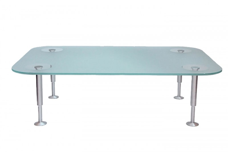 Rolf Benz Beistelltisch Glas / Satiniert 120 x 80 cm