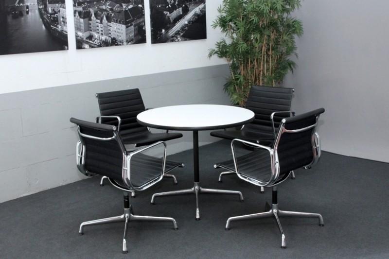 Vitra Konferenztisch Weiß Ø 90 cm
