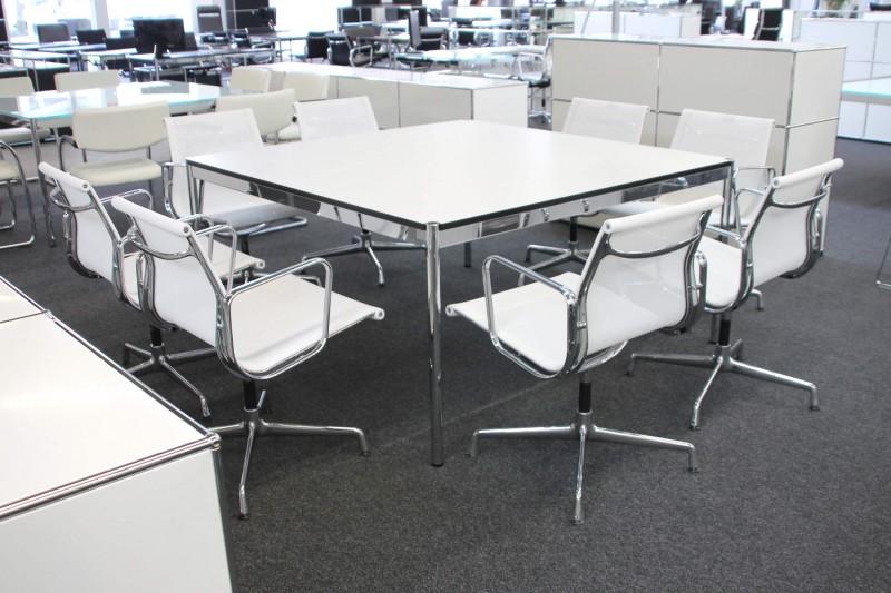 USM Haller Konferenztisch Kunstharz / Weiß 150 x 150 cm
