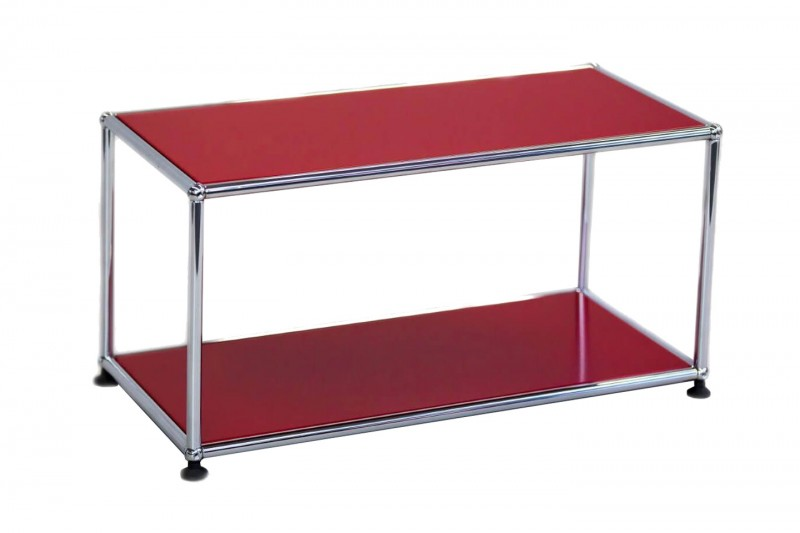 USM Haller Side Table USM Ruby Red 75 x 35 cm