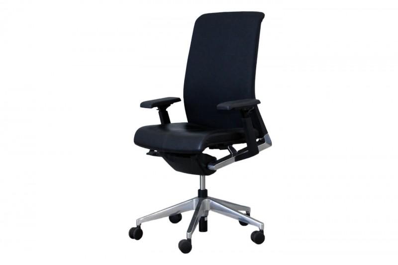 Haworth® Comforto 62 Bürodrehstuhl Stoff / Leder / Schwarz