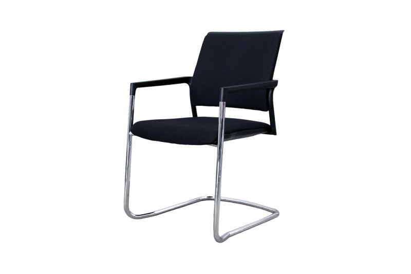 Klöber Cantilever / Visitor Chair Mera Fabric / Black