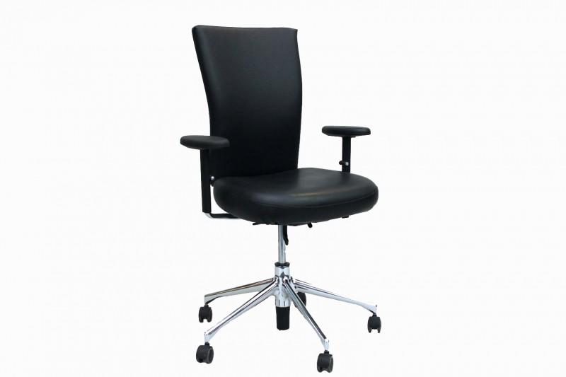 Vitra T-Chair Bürodrehstuhl Kunstleder / Schwarz
