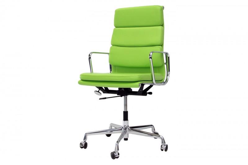 Vitra Soft Pad EA 219 Bürodrehstuhl Leder / Grün