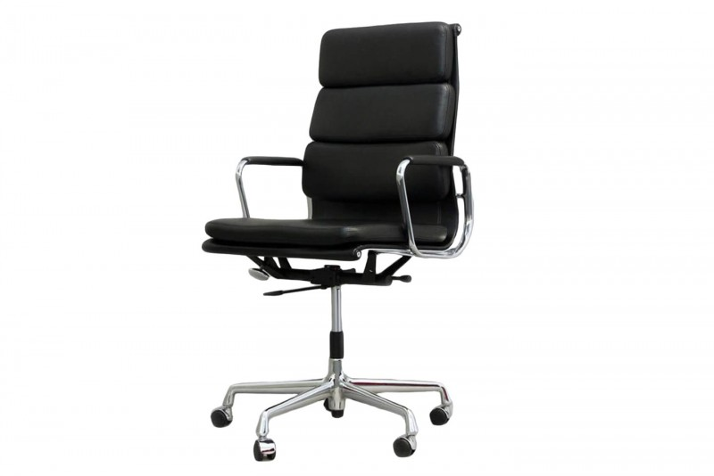 Vitra Soft Pad EA 219 Office Swivel Chair Leather / Black