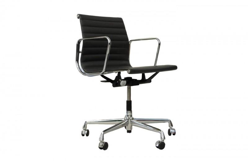 Vitra EA 117 Bürodrehstuhl Leder / Grau