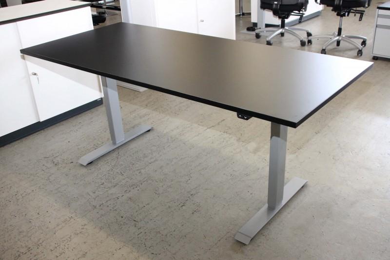 Schreibtisch Elektrisch Hohenverstellbar Kunstharz Schwarz 180 X
