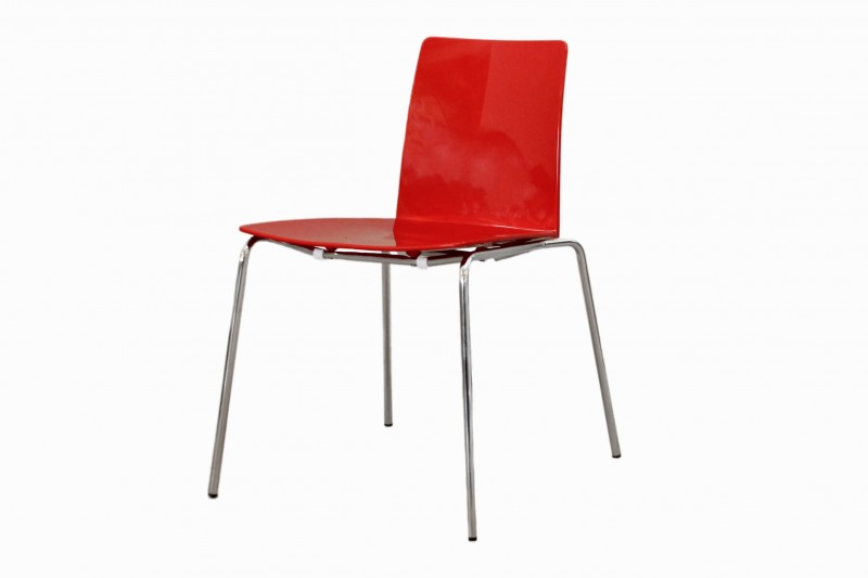 Moroso Leaf Stuhl / Besucherstuhl Kunststoff / Rot