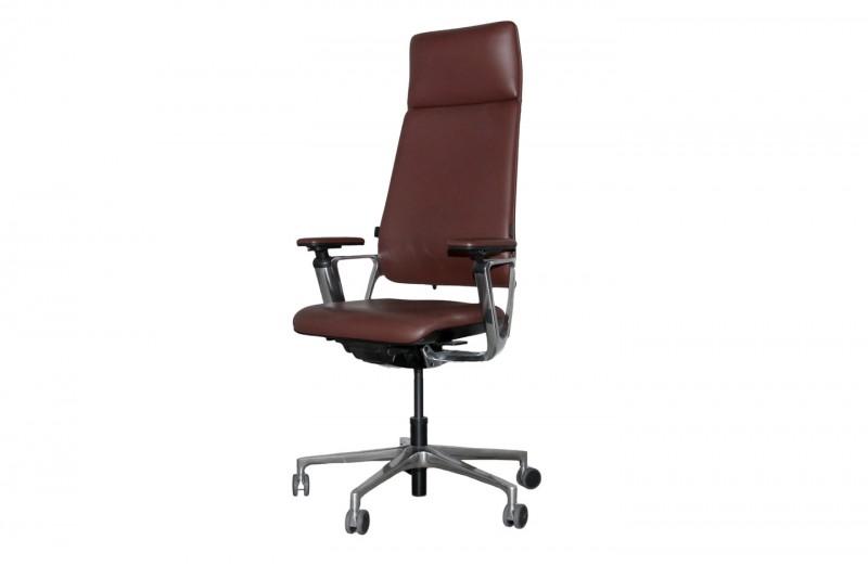 Klöber Connex2 Highback Bürodrehstuhl Leder / Braun