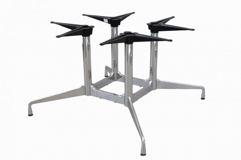 4-Fuß Gestell für Vitra Tisch / verchromt