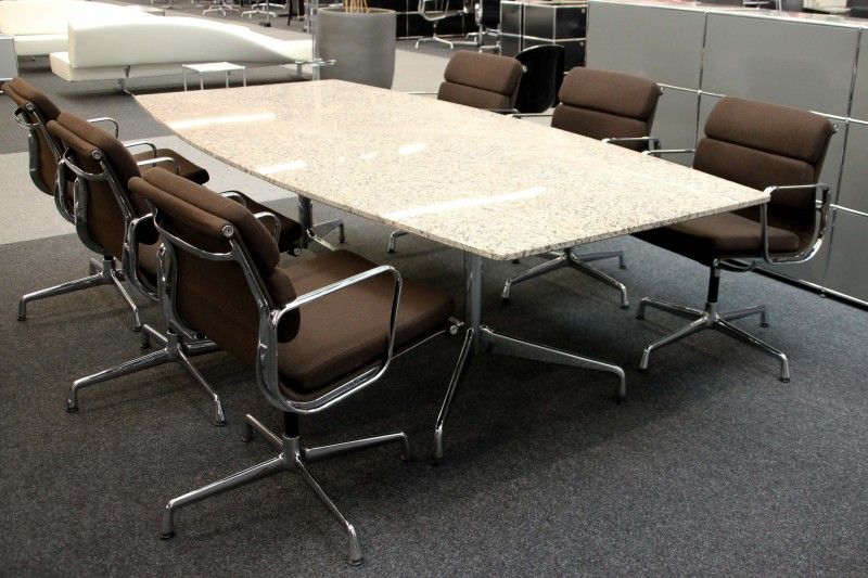 Vitra Conference Table Granite / Beige 250 x 120 cm