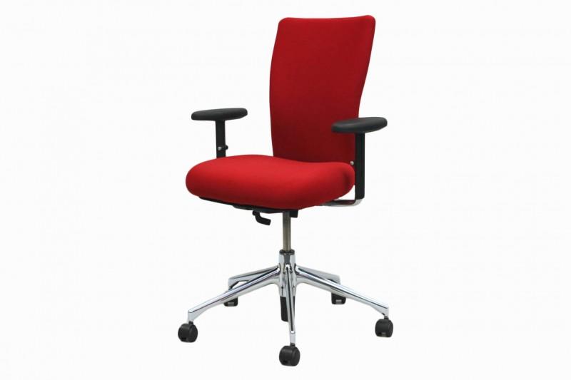 Vitra T-Chair Bürodrehstuhl Stoff / Rot