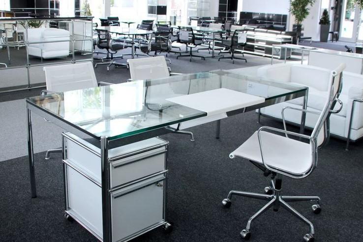 USM Haller Glas Schreibtisch 200 X 100 Cm