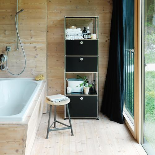 usm-haller-regal-badezimmer-schwarz
