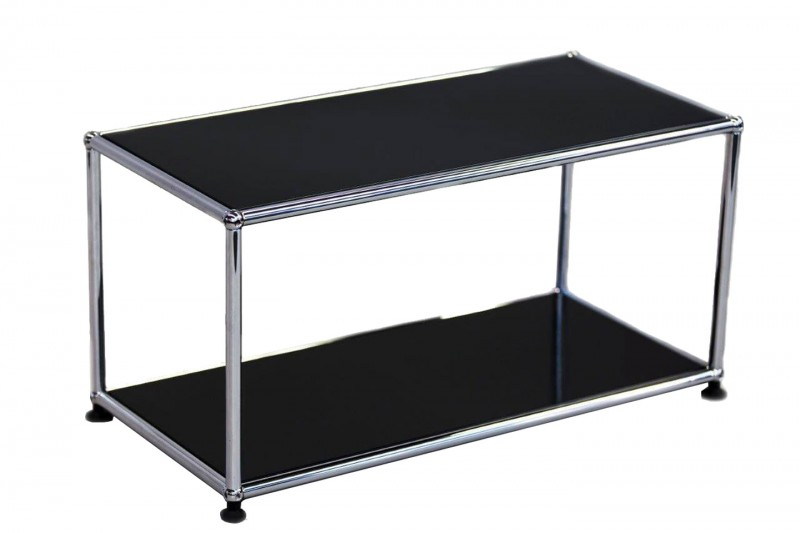 USM Haller Side Table Graphite Black RAL 9011 75 x 35 cm