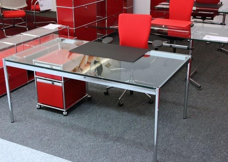 USM Haller Glastisch / Schreibtisch 175 x 100 cm